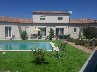 Photo for Villa 180 m2 with picsine in Narbonne near the beaches (11 km)