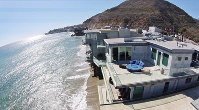 Photo for Huge Malibu Mansion Directly on the Beach! A Dozen Steps to the Pacific Ocean!