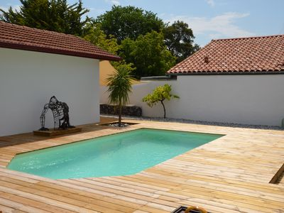 Photo for Pretty typical Basco-Landaise house with private pool