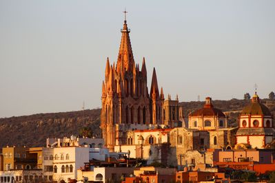 view of historical center and Parroquia from the every room in the apartment