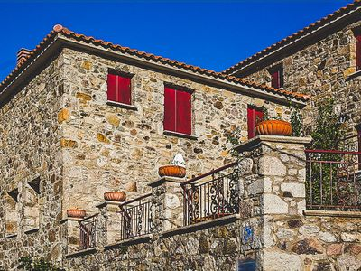 Photo for Luxurious Traditional Stone Villa Minutes To Beach
