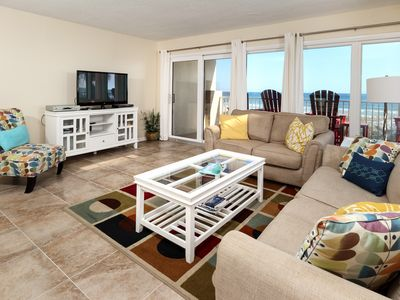 Photo for Gulfside 203:WRAP AROUND BALCONY, GORGEOUS UPGRADES - FLOORING AND FURNITURE!