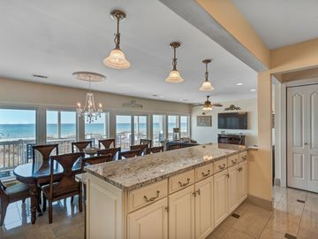 Beautiful views of ocean and sunsets from kitchen, dining room and family room.