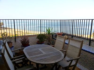 Photo for Homerez last minute deal - Spacious apt with sea view and garden