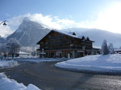 Photo for BEST LOCATION! Closest in the village to the lift, sleeps 2-6.  Above bakery!