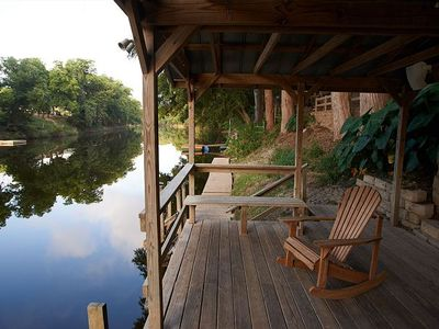 Photo for 4 Bedroom 3 Bath Riverfront home! Best house on the Guadalupe!