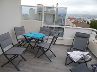 Photo for MISTRAL - STUDIO - Juan Les Pins CENTER- Terrace with open view