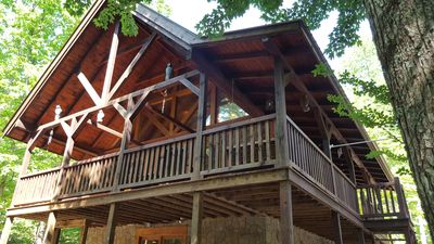 Photo for Heavenly Treehouse – Beautiful!! - All Wood - 2 Bed/2 Bath Cabin-A Must See!!!