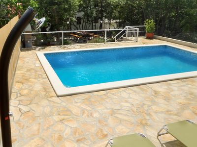 Photo for Apartment Vinez with swiming pool