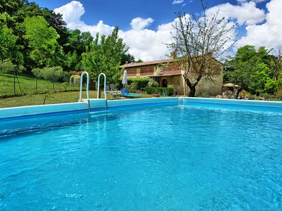 Photo for Wonderful private villa with A/C, WIFI, private pool, TV, washing machine, panoramic view, parking