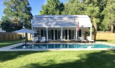 Photo for Breezy Poolhouse Cottage