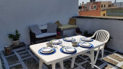 Photo for brand new penthouse with terrace next to the old town 5 km from the sea