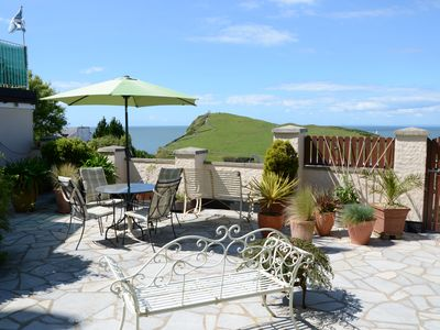 Photo for Vintage Furnished Garden Apartment, Pets Welcome! BBQ on Large Patio & Seaviews!