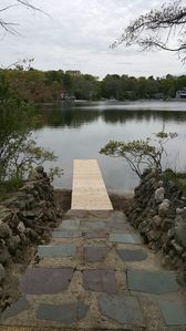 the patio leads to the dock...and the crystal clear waters...