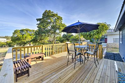 Enjoy the Texas sunshine on your brand new deck!