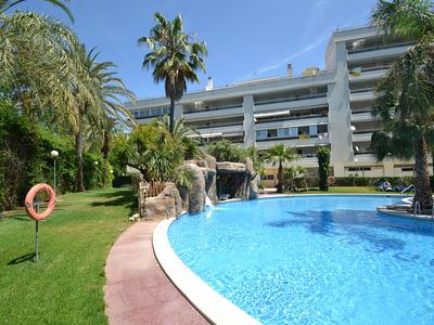 Photo for Jardines Family 4 10: Air conditioning - Family resort with Sw.pool and waterfalls-Salou centre