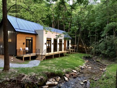 Photo for E Ranch is a modern, creek side, Scandinavian barnhouse built in 2019.