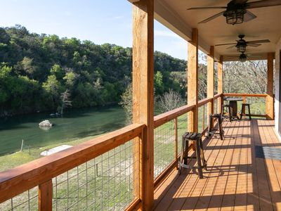 Photo for River Road Guadalupe Riverfront!! Spacious, newly built! Great views!!