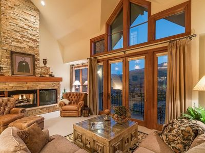 Photo for Discover Luxury in this Condo with High End Finishes, Private Hot Tub, Sauna, and Ski Access. Gorgeo