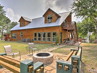 Photo for Eustace Cabin w/Serene Lake Views, Deck & Fire Pit
