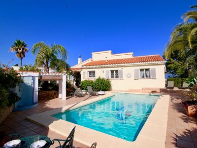 Photo for Fantastic villa with impressive panoramic views, private pool, air conditioning, WIFI