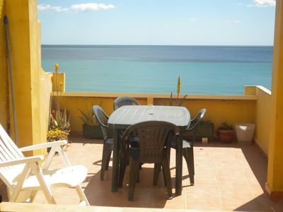 Photo for House facing the sea with porch and terraces, barbecue
