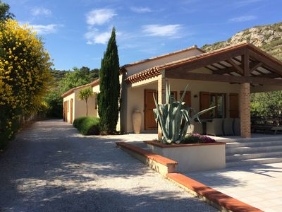 Private villa with pool, secluded position on edge of ancient wine village.