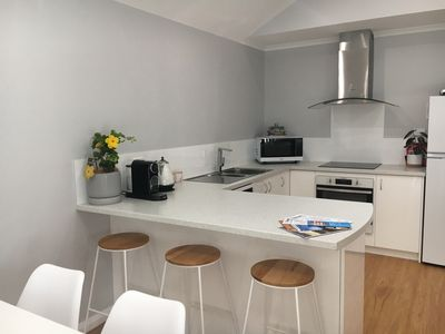 Photo for Luxurious new accommodation in the heart of town, 2 bed 2 bath fully equipped.