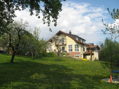Photo for Beautiful quiet and located in the countryside apartment with terrace in the border triangle D / CH / F