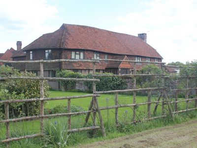 Photo for Converted 4 bedroom barn over looking manor house in quiet country setting
