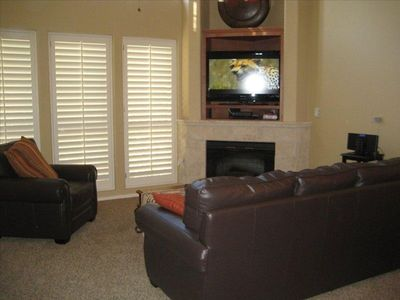 Family Room with a 42 inch Flat Screen TV