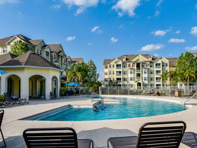 Photo for Family-friendly getaway close to theme parks with shared pool, hot tub, & more!