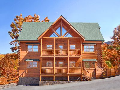 Photo for Mountain Theatre Lodge | Mountain Views | WiFi | Theater Room | Game Room | Hot Tub | Pigeon Forge