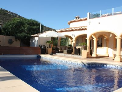 Photo for fantastic quality  family villa, heated pool,fantastic views, Car required