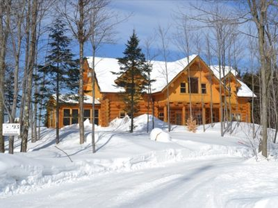 Photo for Luxury Log Home in the Laurentians
