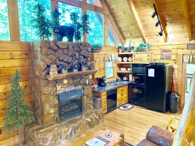 Photo for New to market! Luxurious, private, beautifully hand crafted real log cabin!