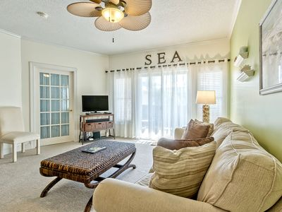 Photo for Prime Location! Only 20 Yds to Beach, Pet friendly, Elevator and Balcony w/ Partial Side Ocean View