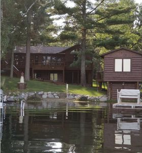 Photo for Fabulous Crosslake 4BR+ lakehome sleeps 8-14, sandy beach & right in town!