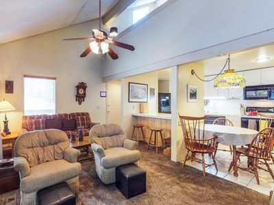 Photo for NEW LISTING! Mountain home w/shared pool, hot tub, sauna, near skiing and more