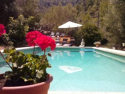 Photo for Enchanting Rustic Mallorquin country villa with private pool, spectacular views.