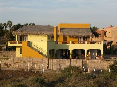 House viewed from the beach dunes