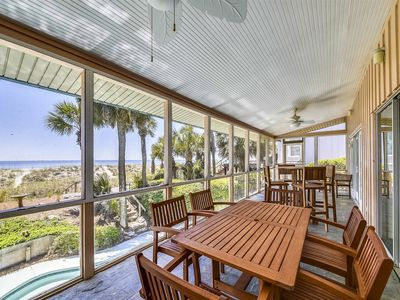 Photo for OCEAN FRONT! 4 Bedroom 3 bath Home with Beautiful Private Pool right on the Beach!