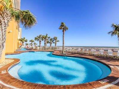 Photo for Gulf-front resort condo w/ beach view, balcony & shared pools/hot tub/lazy river