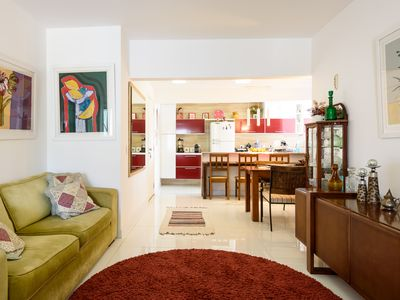 Photo for Beautiful apartment with two suites, building with complete infrastructure! Botafogo.