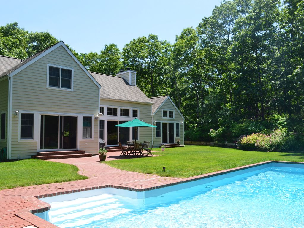 East hampton sun filled home on private acr vrbo for East hampton vacation rentals