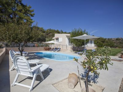 Photo for Butterfly valley, Comfortable 3 bed villa, private pool, wifi + internet TV