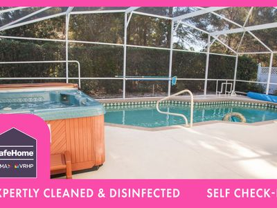 Photo for 4 Bedroom luxury vacation pool home in Orlando with South facing Pool