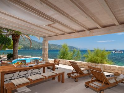 Photo for Luxury Villa Gracia Grande with pool at the beach in Orebic on Peljesac
