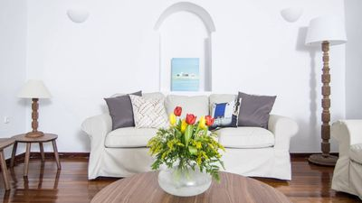 Photo for ELEGANT DESTINY. 3 BEDROOM VILLA EROS SANTORINI A FEW STEPS FROM 'FIRA' THE CAPITAL