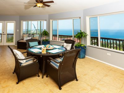 Photo for Breathtaking panoramic Caribbean Sea view Luxury, 2 bed/2 bath penthouse Villa